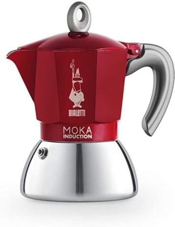 CAFF.MOKA INDUCT RED 04x4tz