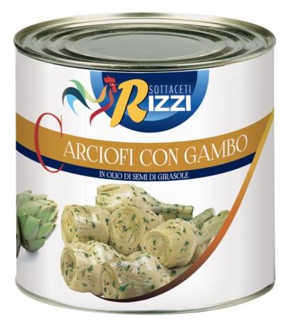 CARCIOFI GAMBO OLIO RIZZI 06x3 kg