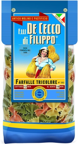 FARFALLE TRICOLORE gourmet 12x0,500